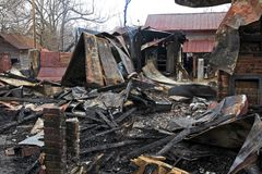 ogień 6 dom Obrazy Royalty Free