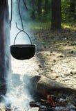 ogień campingowy Fotografia Stock