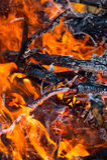 Ogień dalej Zdjęcia Stock