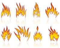 ogień deseniuje set Obrazy Royalty Free