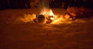 Ogień dla herbaty Zdjęcie Royalty Free