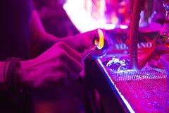 Ogień dla hooke w noc klubie Obraz Royalty Free
