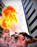 Ogień dymówki Fotografia Stock