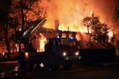 ogień firetruck silnika stare show Obrazy Stock