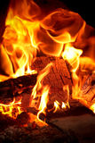 Ogień i ember obrazy stock
