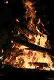 Ogień i ember Zdjęcie Royalty Free