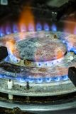 Ogień kuchenny gaz Fotografia Royalty Free