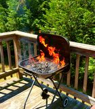 Ogień na grillu Fotografia Stock
