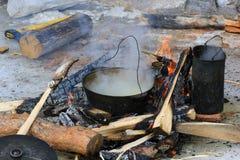 Ogień na lodowym Baikals Obrazy Stock