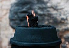 Ogień na wiatrze obraz stock