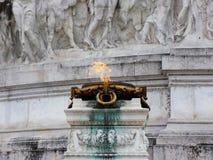 Ogień przy Wenecja kwadratem Rzym Zdjęcie Royalty Free