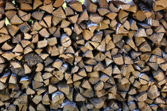 ogień stos drewna Zdjęcia Royalty Free