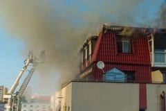 Ogień w attyku Fotografia Royalty Free