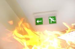 Ogień w budynku Obrazy Royalty Free