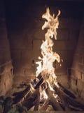 Ogień w grabie Obrazy Royalty Free