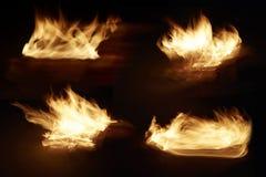 Ogień w kolekci zdjęcie royalty free