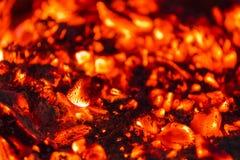 Ogień w kominku Zdjęcia Stock
