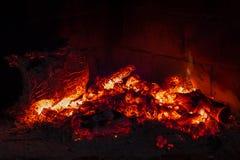 Ogień w kominku Zdjęcie Royalty Free