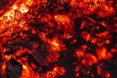 Ogień w kominku Fotografia Royalty Free