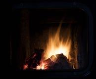 Ogień w kominku Fotografia Stock