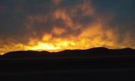 Ogień W niebie Zdjęcie Stock