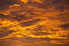 Ogień W niebie Zdjęcia Stock