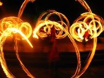 Ogień w niebie fotografia stock