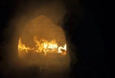 Ogień w ognisku zdjęcia royalty free