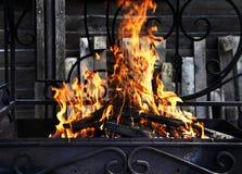Ogień z iskrami Zdjęcie Royalty Free