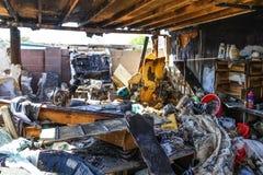 ogień zniszczonych dom Obrazy Royalty Free