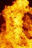 Ogieni płomieni szczegół Palacza nagły wypadek Węgiel emisja Obraz Royalty Free