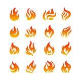 Ogieni płomienie Fotografia Stock