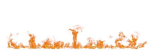 Ogieni płomienie odizolowywający na białym tle Obraz Royalty Free