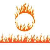 Ogieni płomienie różni kształty Fotografia Royalty Free