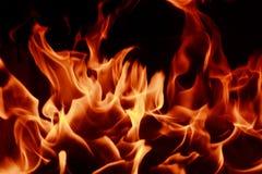 Ogieni płomienie Zdjęcia Royalty Free