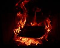 Ogieni płomienie Zdjęcia Stock