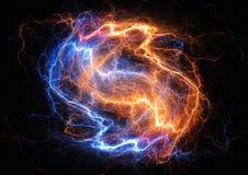 Ogienia i lodu błyskawicowy rygiel ilustracja wektor
