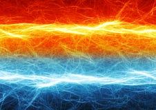 Ogienia i lodu elektryczny rozładowanie Obraz Stock