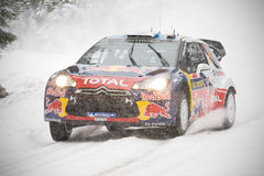 Ogier Rally Sweden Royalty Free Stock Image