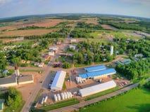 Ogilve é uma cidade de cultivo pequena em Minnesota fotografia de stock