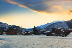 Ogimachi in Shirakawago Stock Image