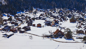 Ogimachi Village in Shirakawago Royalty Free Stock Photos