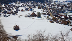 Ogimachi Village in Shirakawago Royalty Free Stock Images