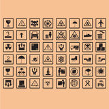 ogistic Ikonenverpackungssymbole Stockbilder