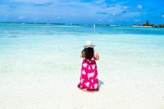 Ogląda plażowych Maldives Obraz Stock