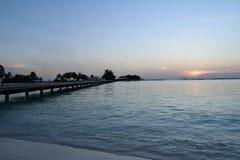 Ogląda plażowych Maldives Fotografia Stock