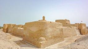 Ogląda wierza Al Qalat fort, Qal «przy Bahrajn zdjęcie stock