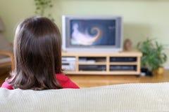 oglądanie telewizji Zdjęcia Stock