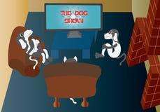 oglądanie telewizji ilustracji