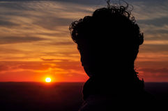 oglądanie zachodu słońca Fotografia Royalty Free